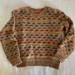 Vintage Missoni rainbow chunky knit sweater 1263